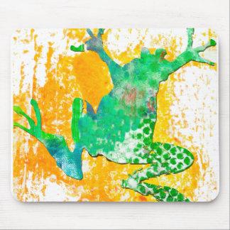 Niedlicher grüner FroschWatercolor Mousepad
