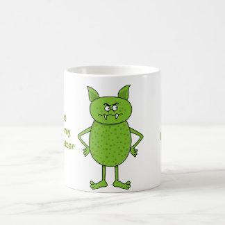 Niedlicher grüner Kobold-Cartoon Kaffeetasse