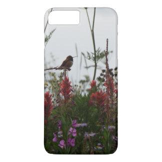 niedlicher grüner Kolibri an der Dämmerung iPhone 8 Plus/7 Plus Hülle