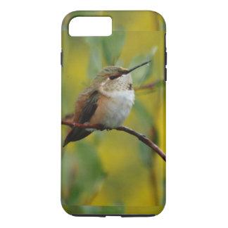 niedlicher grüner Kolibrigelbhintergrund iPhone 8 Plus/7 Plus Hülle