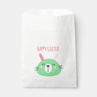 Niedlicher grüner Osterhase Geschenktütchen