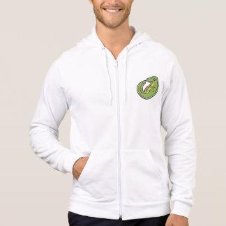 Niedlicher grüner und gelber Alligator, der Hoodie