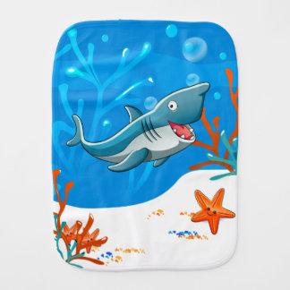 Niedlicher Haifisch-Ozean-BabyBurp Baby Spucktuch