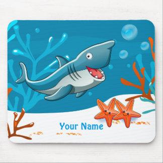 Niedlicher Haifisch-Ozean WasserMousepad Mauspad