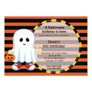 Niedlicher Halloween-Geburtstag 12,7 X 17,8 Cm Einladungskarte