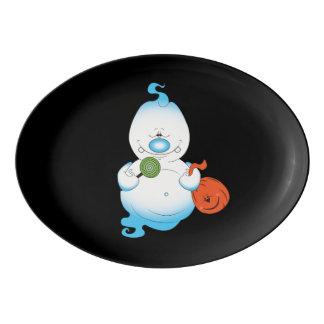 Niedlicher Halloween-Geist-Cartoon Porzellan Servierplatte