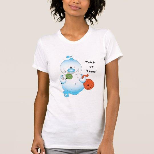 Niedlicher Halloween-Geist-Cartoon T-Shirt