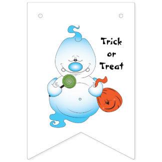 Niedlicher Halloween-Geist-Cartoon Wimpelketten