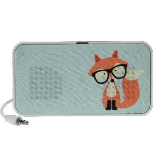 Niedlicher Hipsterroter Fox Mini Lautsprecher