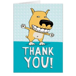 Niedlicher Hund dankt Ihnen zu kardieren Grußkarte