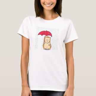 Niedlicher Igel mit heftigem Regenschirm T-Shirt