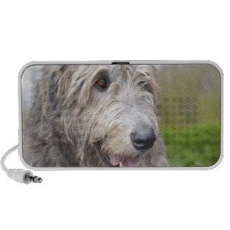 Niedlicher irischer Wolfhound Laptop Lautsprecher