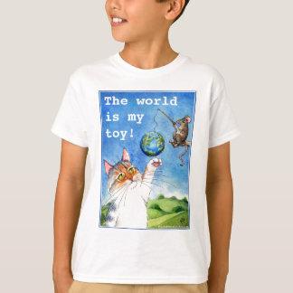 Niedlicher Katzen-und Mäuseerdtag T-Shirt
