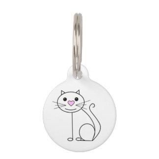 Niedlicher Katzennamenumbau mit Kontaktdetails Tiernamensmarke