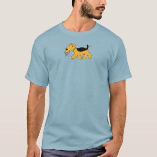 Niedlicher Kawaii Airedale-Terrier-Hund mit Hut-T T-Shirt