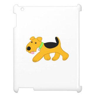Niedlicher Kawaii Trotting Airedale-HundiPad Fall iPad Hülle
