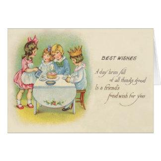 Niedlicher Kindergeburtstags-Party-Kuchen Karte