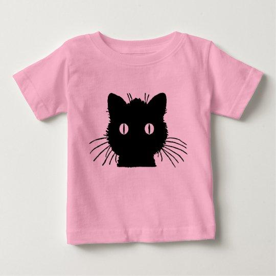 Niedlicher Kitty-Katzen-Kopf Baby T-shirt