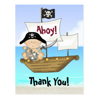 Niedlicher kleiner Buccaneer-Baby-Jungen-Pirat Postkarte