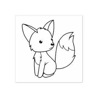 Niedlicher kleiner Fox färben mich Gummistempel