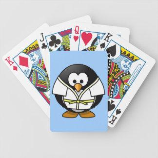 Niedlicher kleiner lebhafter Judo Penguin Poker Karten