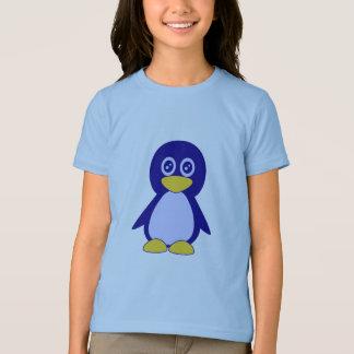 Niedlicher kleiner Marineblau Penguinwecker T - T-Shirt