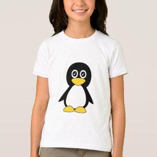 Niedlicher kleiner schwarzer Penguinwecker T - T-Shirt