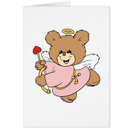 niedlicher kleiner Valentineamor Teddybärnentwurf Grußkarte