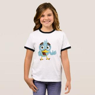 Niedlicher kleiner Vogel Ringer T-Shirt