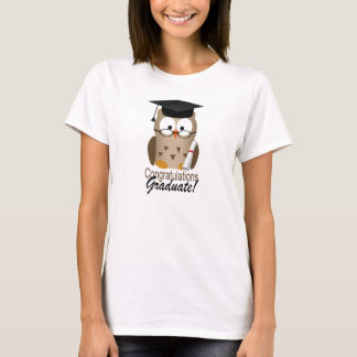 Niedlicher kluger Eulen-Absolvent T-Shirt
