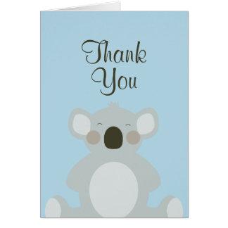 Niedlicher Koala-Bär danken Ihnen zu kardieren Karte