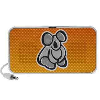 Niedlicher Koala; Gelb-orange iPhone Lautsprecher
