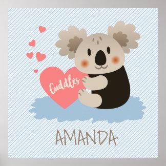 Niedlicher Koala streichelt ID386 Poster