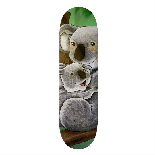 Niedlicher Koala und Baby Bedruckte Skateboarddecks