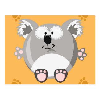Niedlicher Kreis Koala Postkarte
