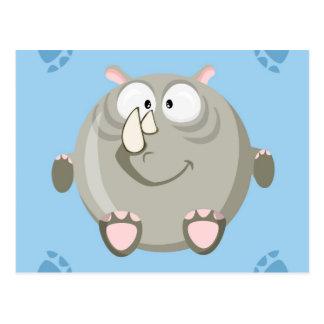 Niedlicher Kreis Rhino Postkarte