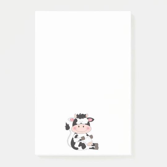 Niedlicher Kuh-Cartoon Post-it Haftnotiz