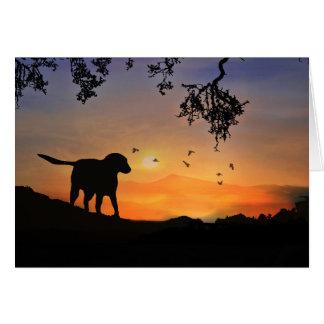 Niedlicher Labrador-Hund, der an Sie denkt, Karte