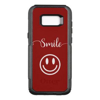 Niedlicher Lächeln-Gesichts-Entwurf OtterBox Commuter Samsung Galaxy S8+ Hülle