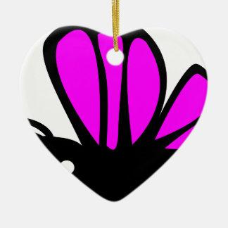 Niedlicher lila Schmetterling Keramik Ornament