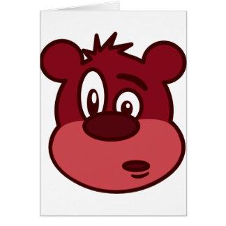 Niedlicher lustiger blinzelnder Bär Grußkarte