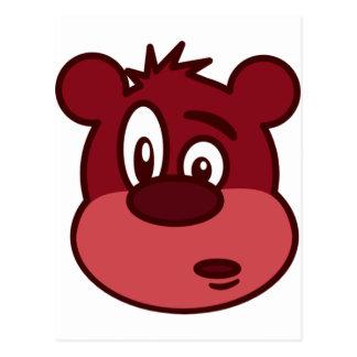 Niedlicher lustiger blinzelnder Bär Postkarte