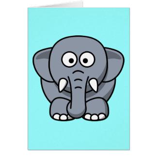 Niedlicher lustiger Elefant Karte