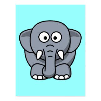 Niedlicher lustiger Elefant Postkarte