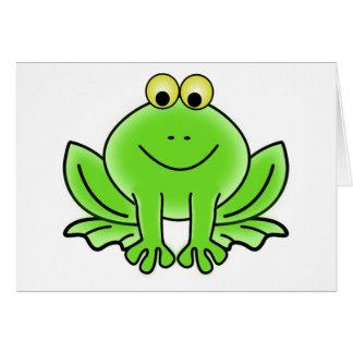 Niedlicher lustiger Frosch Grußkarte
