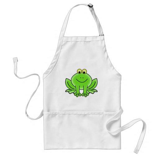 Niedlicher lustiger Frosch Schürzen