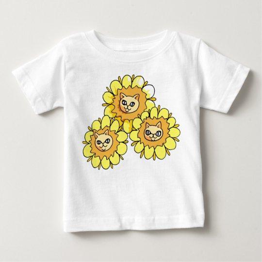 Niedlicher lustiger geckiger Löwe, der Baby-Shirt Baby T-shirt