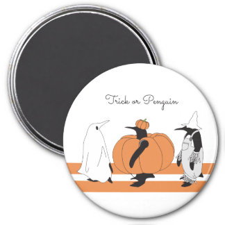 Niedlicher lustiger Penguin Halloween Runder Magnet 7,6 Cm