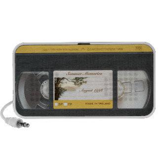 Niedlicher lustiger Retro Videokassetteportable-La iPod Lautsprecher