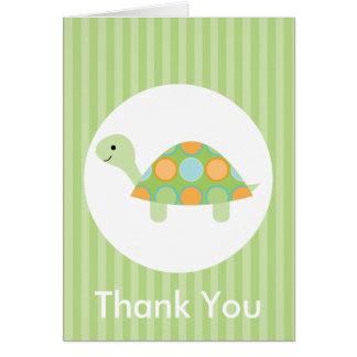 Niedlicher lustiger Schildkröte-Kindergeburtstag Karte